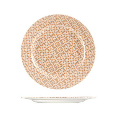 CHURCHILL MORESQUE ROUND PLATE-276mm, ORANGE