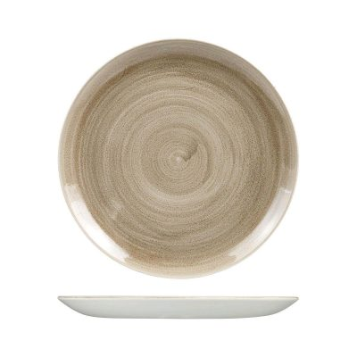 CHURCHILL PATINA ROUND PLATE 288MM TAUPE