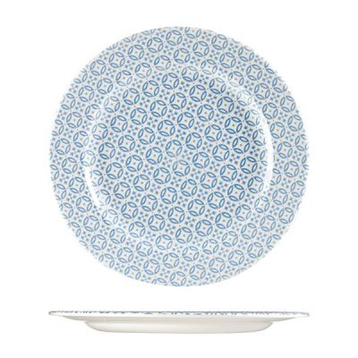 CHURCHILL MORESQUE ROUND PLATE-305mm, BLUE