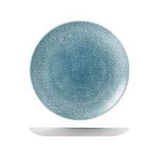 CHURCHILL RAKU TRACE PLATE-210mm, TOPAZ BLUE