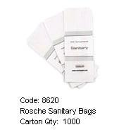 ROSCHE MOTEL SANITARY BAGS (1000 PER CARTON) #8620