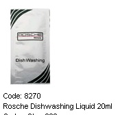 ROSCHE DISHWASHING LIQUID SACHET 20ML(300 PER CAR)
