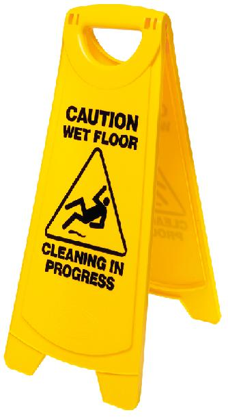 WET FLOOR SIGN A-FRAME YELLOW