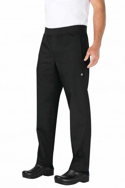 CHEFWORKS  BLACK SLIM FIT PANTS 2XL