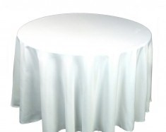 TABLECLOTH 227cm ROUND WHITE