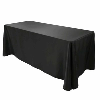TRESTLE TABLECLOTH BLACK 1370X1800