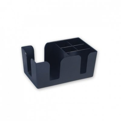 BAR ORGANISER CADDY BLACK 240x145x110mm