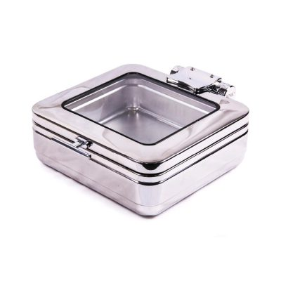 WNK INDUCTION CHAFER 2/3 SQUARE w/ GLASS LID