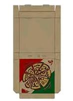 PIZZA BOXES BROWN PRINTED 13′ (50pcs per packet)