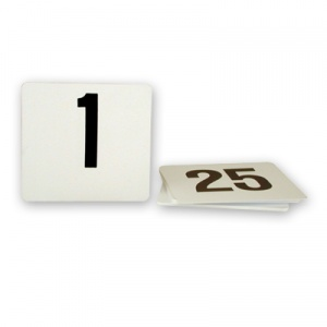 TABLE NUMBER 1-25 PLSTC SML 50x50mm