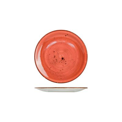 RUSTIC ROUND COUPE PLATE 325MM TERRACOTTA