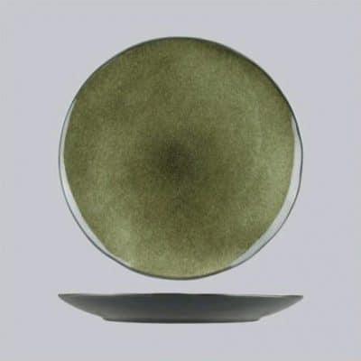 UNIQ PLATE ROUND GREEN/ GREY 330MM 6604