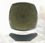 UNIQ RIPPLE SQUARE BOWL GREEN/ GREY 172MM 6617