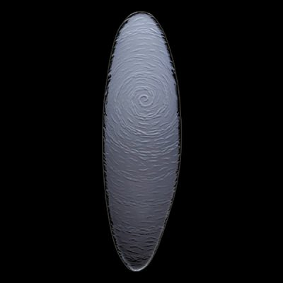 STEELITE SCAPE 40cm Oval Platter GLASS