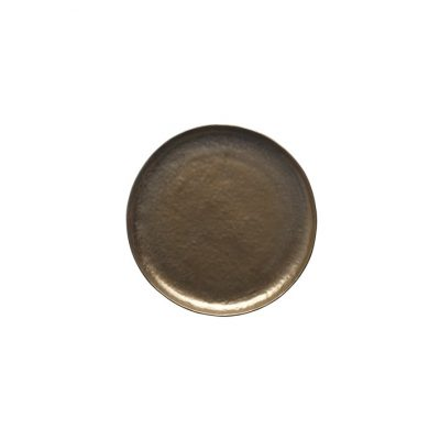 VILAMOURA BRONZE ROUND PLATE-275mm COUPE
