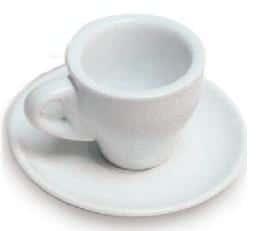 eolINCAFE ESPRESSO CUP & SAUCER SET WHITE (90ml)
