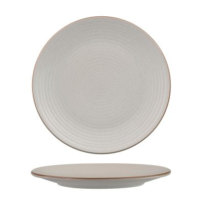 ZUMA MINERAL ROUND PLATE -RIBBED 265MM (18/6)