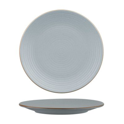 ZUMA BLUESTONE ROUND PLATE -RIBBED 265MM 18/6