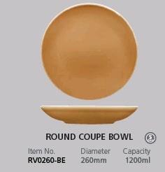 RAK VINTAGE BEIGE ROUND COUPE BOWL 260mm