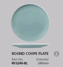 RAK VINTAGE BLUE ROUND COUPE PLATE 240MM