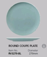 RAK VINTAGE BLUE ROUND COUPE PLATE 270MM