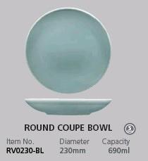 RAK VINTAGE BLUE ROUND COUPE BOWL 230MM