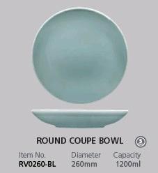 RAK VINTAGE BLUE ROUND COUPE BOWL 260MM
