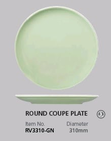RAK VINATGE GREEN ROUND COUPE PLATE 310MM