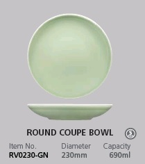RAK VINTAGE GREEN ROUND COUPE BOWL 230MM