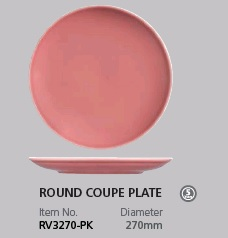 RAK VINTAGE PINK ROUND COUPE PLATE 270MM
