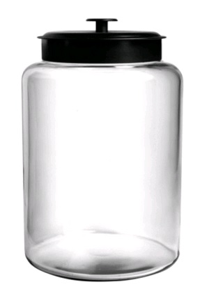 GLASS JAR MONTANA 9.5L (black lid)