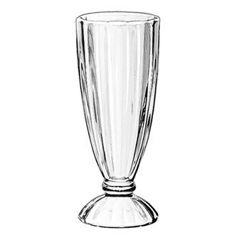 SODA GLASS FLUTED 355ML(24 per ctn)