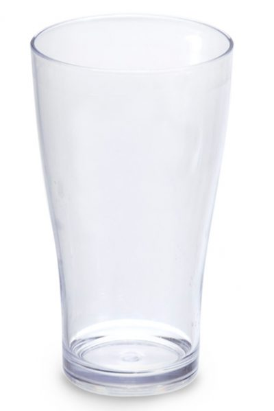 CONICAL TUMBLER PC CLR 425ML