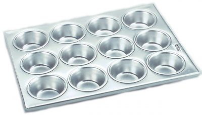 MUFFIN PAN 12 CUP ALUM 355×270