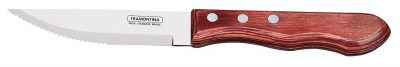 TRAMONTINA Jumbo Steak Knife Red Polywood Pointed