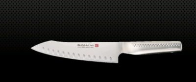 GLOBAL NI ORIENTAL COOKS KNIFE- FLUTED BLADE 20CM