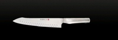 GLOBAL NI ORIENTAL COOKS KNIFE -FLUTED BLADE 26CM