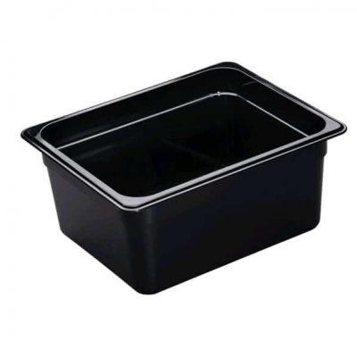 POLYCARB G/N PAN BLACK 1/2 150mm
