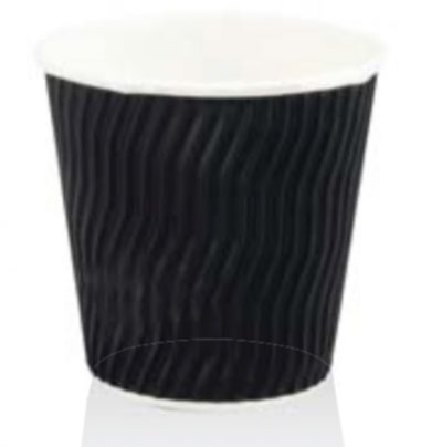 COFFEE CUP BLACK 8oz SQUAT (500pcs)