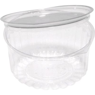 CLEAR DISP. BOWL w/ FLAT LID 341ml  (250pcs)