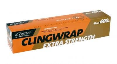 COMMERCIAL CLINGWRAP 600 Metre Length x 45cm Width