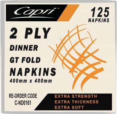 NAPKINS 2 PLY DINNER P/F 1000pcs