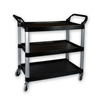 TROLLEY BLACK  3 TIER 1020x500x960mm