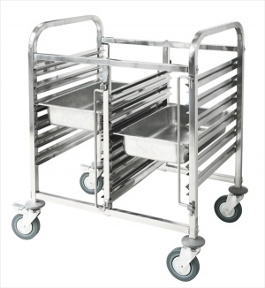 TROLLEY GASTRONORM DOUBLE 6×2 Tray