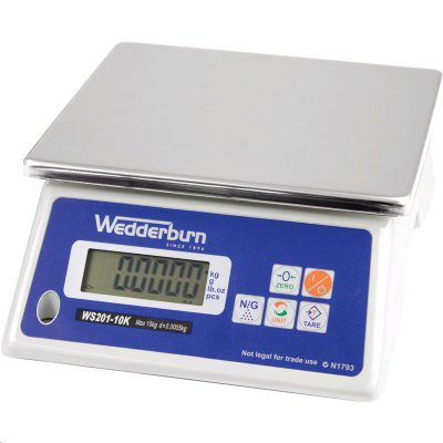 WEDDERBURN WS20110K Digital Bench Scale 10kg x 0.5