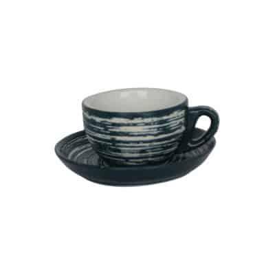 INCASA SWIRL BLUESTONE BOWL CUP 200ML [6pcs set]