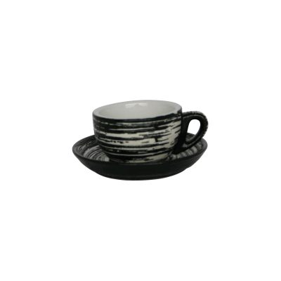INCASA SWIRL LAVA BOWL (or mug)  SAUCER [6pcs set]