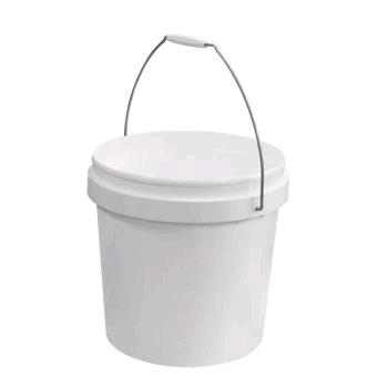 Bucket Food Grade White Plastic 10L WITH LID