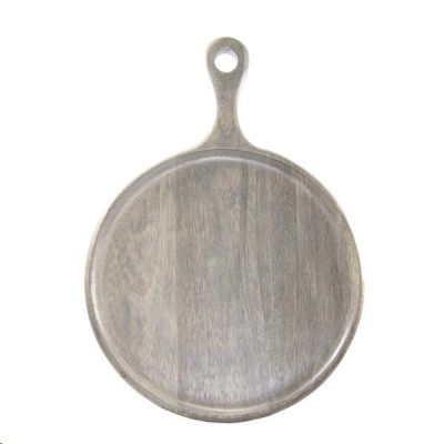 Mangowood Brown Serving Paddlle 25×35 ROund 04942