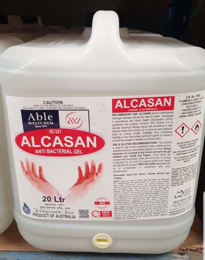 ALCASAN HAND SANITISER (20 Litre ) [MADE IN W.A.]